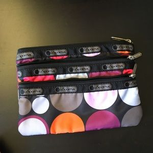 Le Sports Sac 3 zipper cosmetic bag